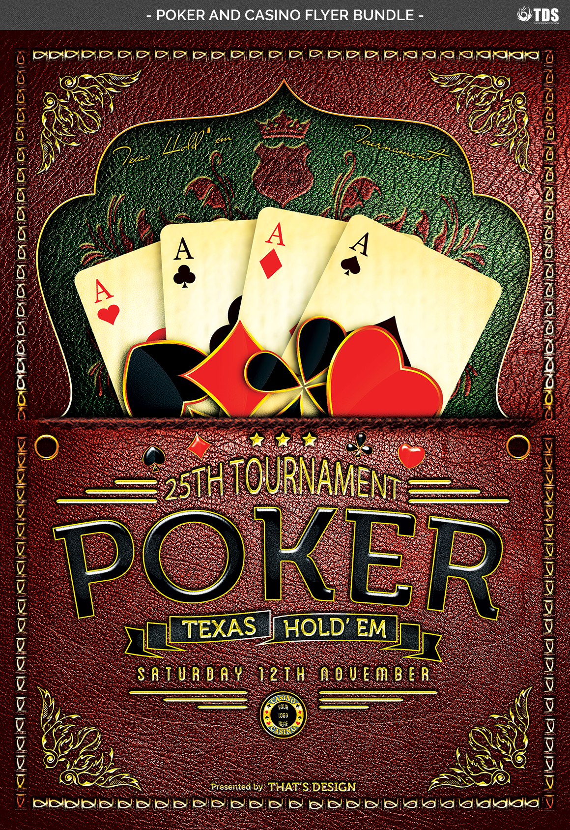 Poker and Casino Flyer Bundle example image 6