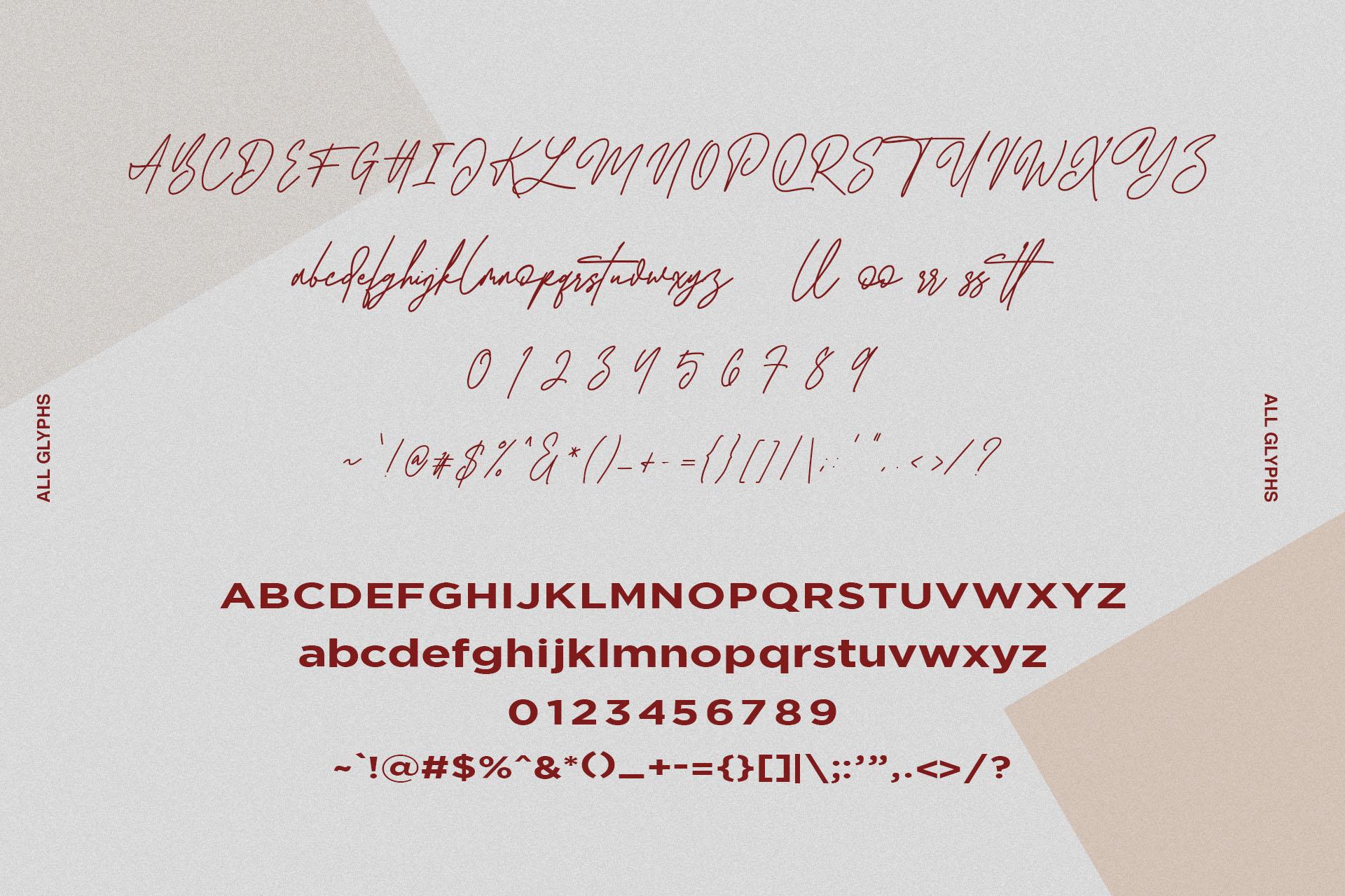 Redbird Signature Font Free Sans example image 10