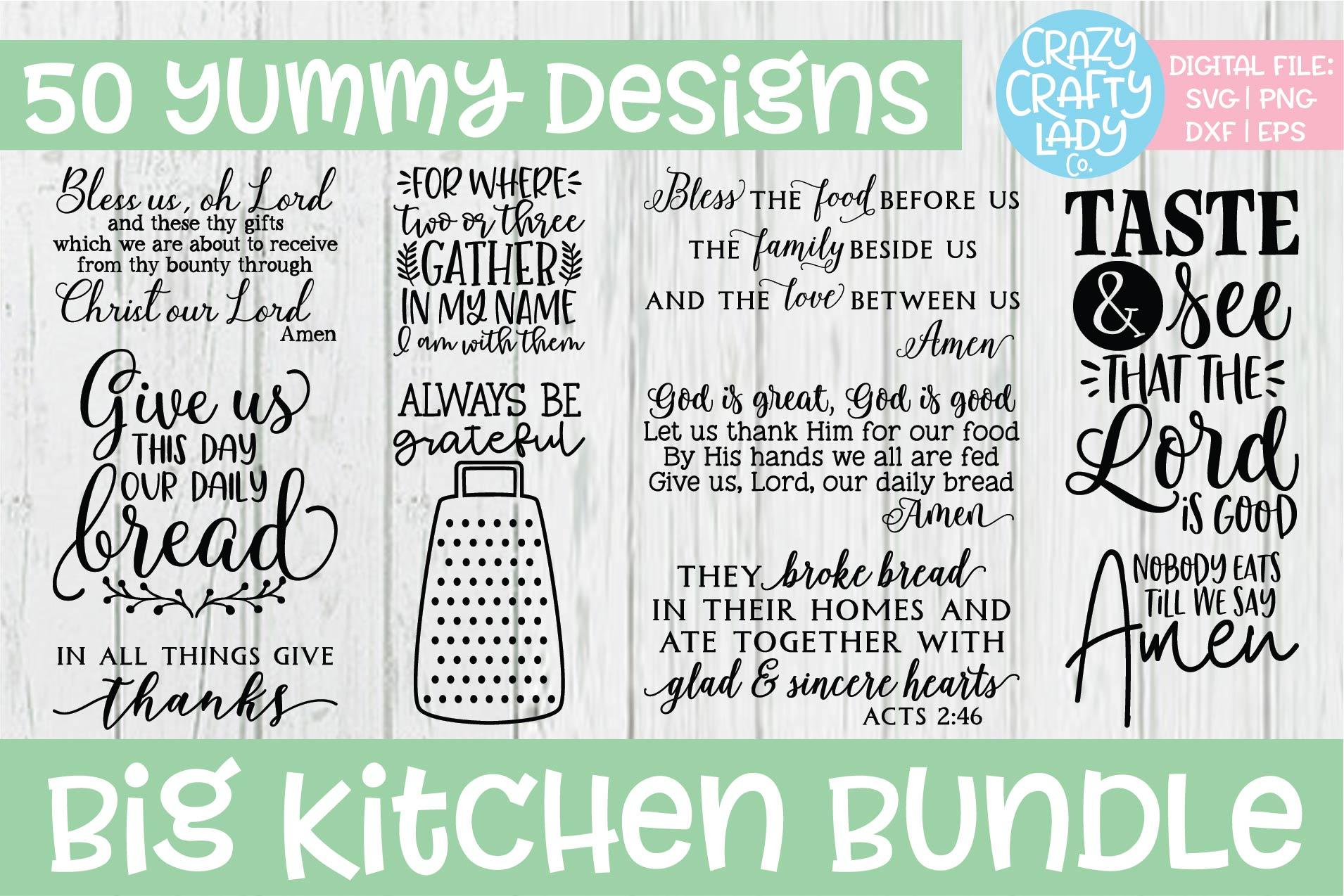 Big Kitchen SVG DXF EPS PNG Cut File Bundle example image 3