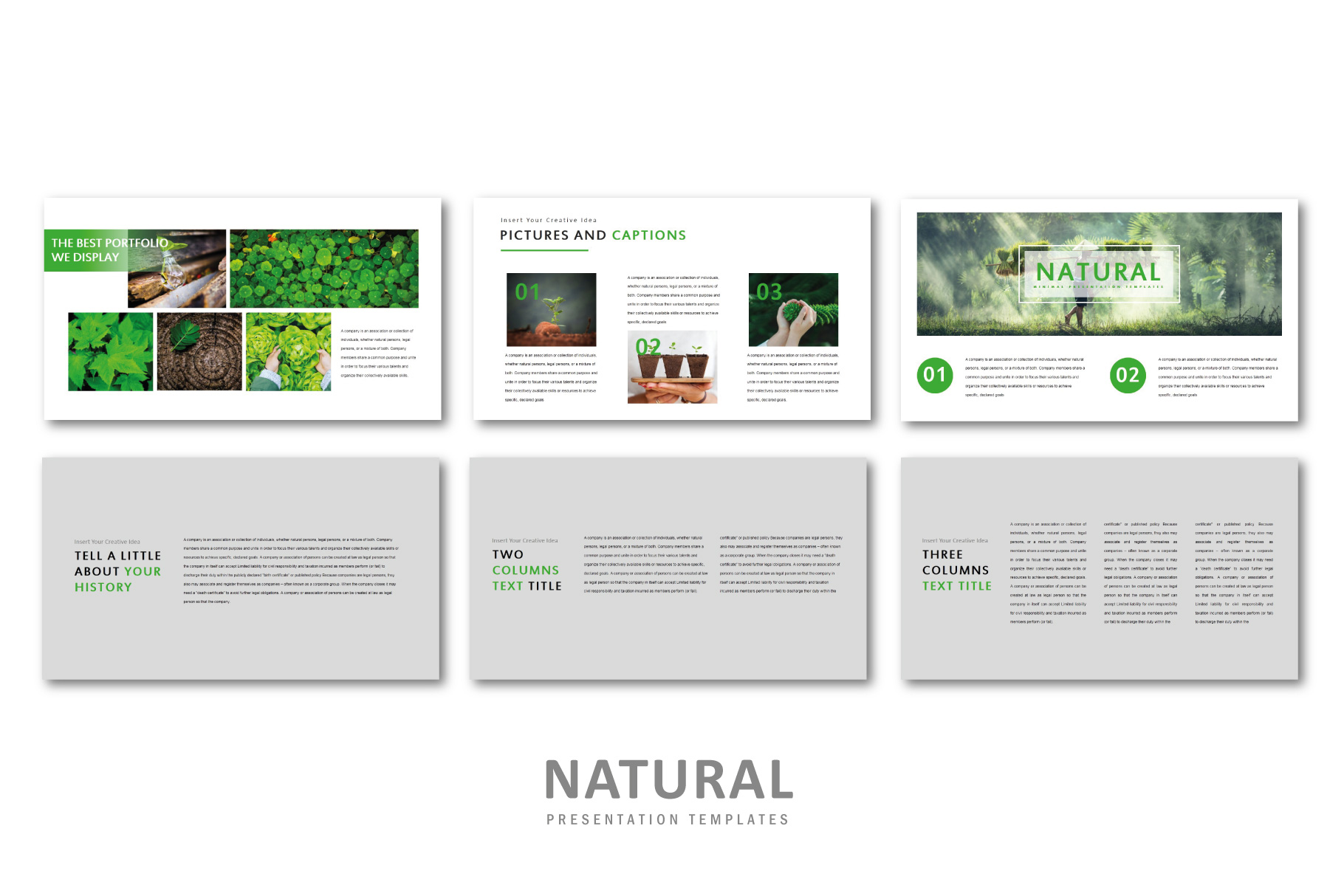 Natural PowerPoint Templates example image 5