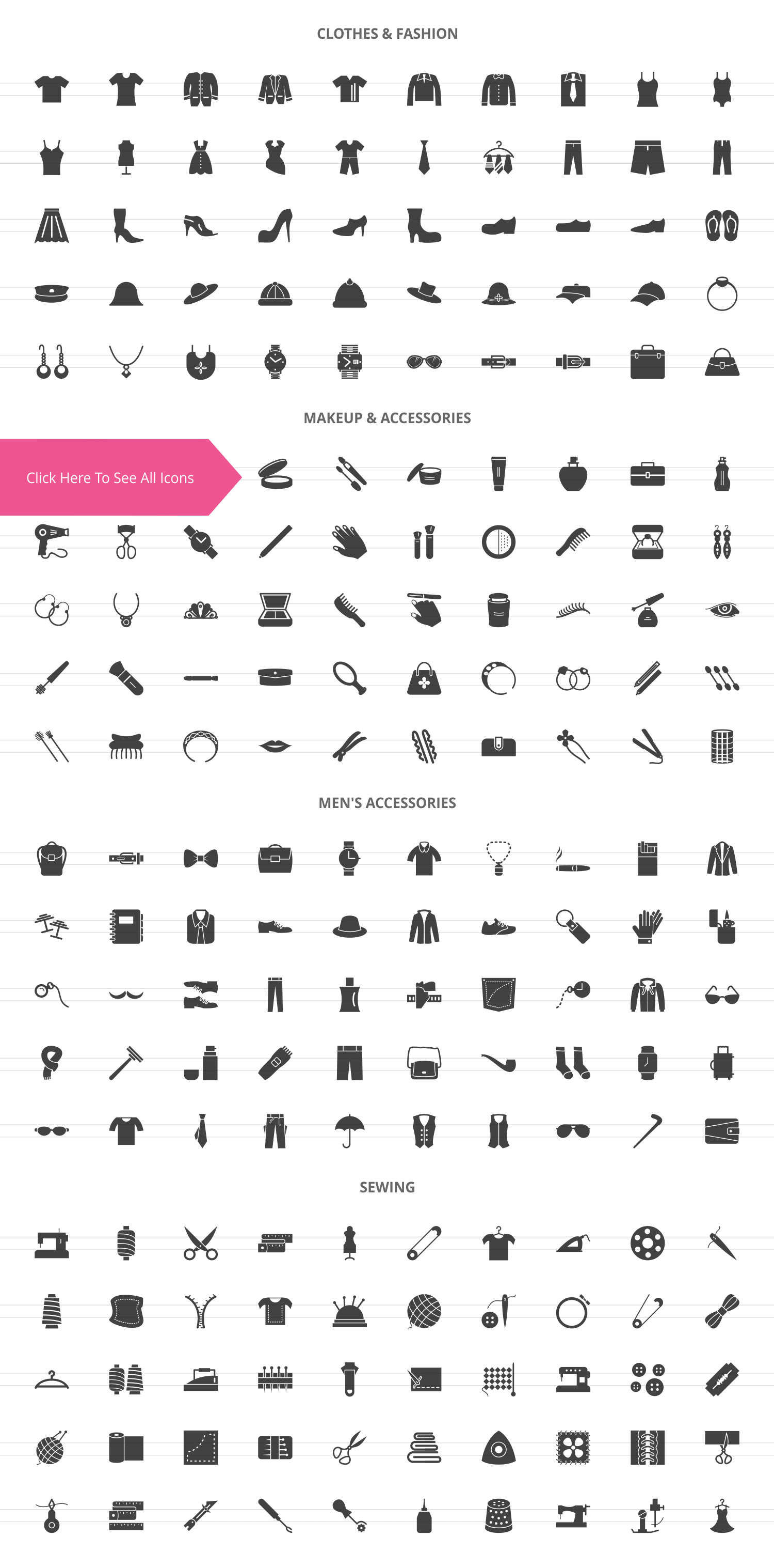 200 Fashion Glyph Icons example image 2