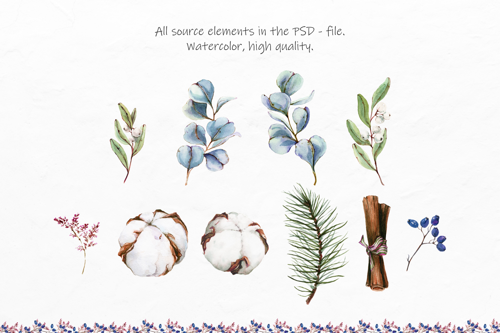 Watercolor Winter Wreaths | Clipart example image 10