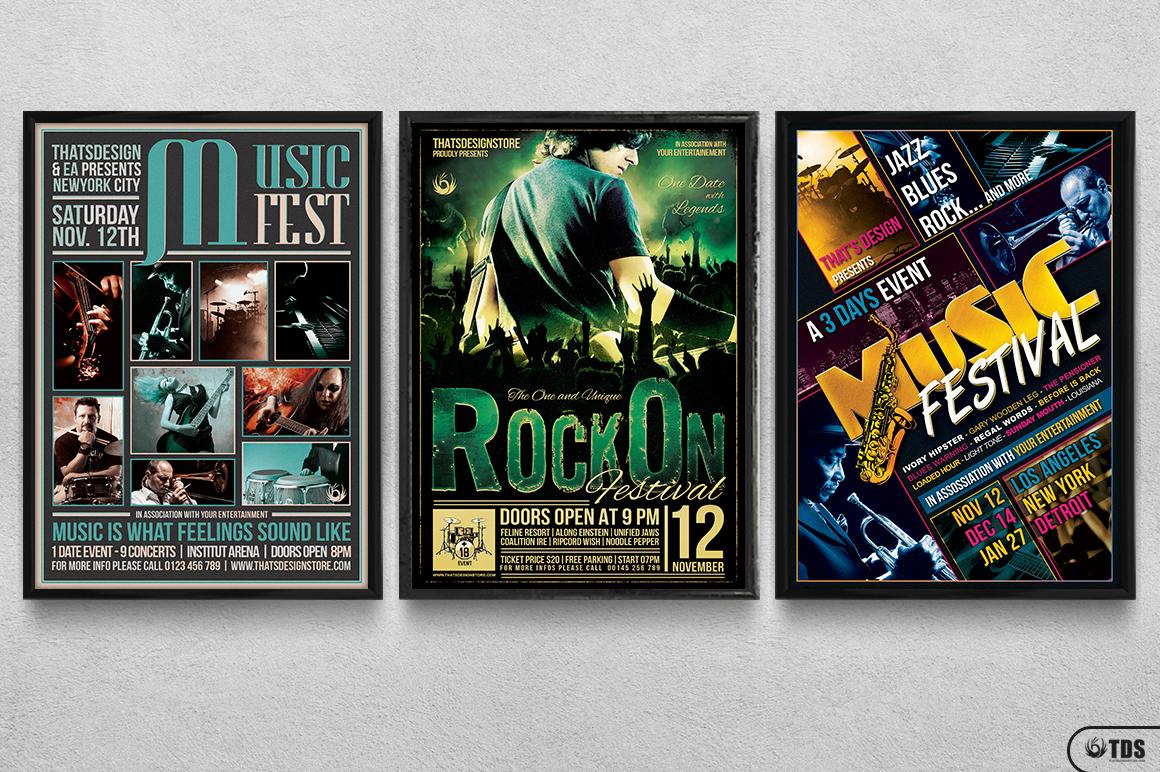 Live Band Flyer Bundle V3 example image 11