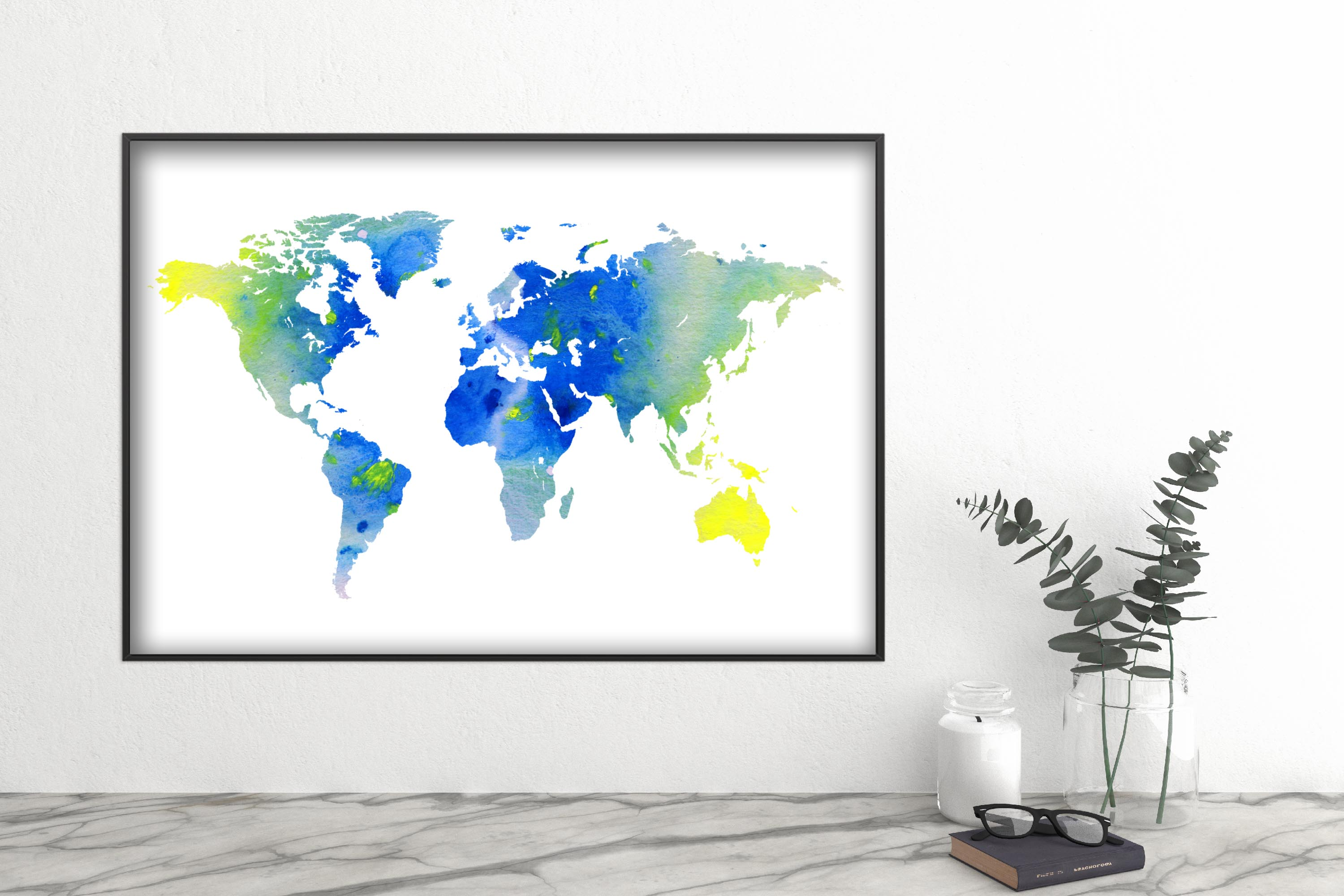 World map wall art printable download files example image 3
