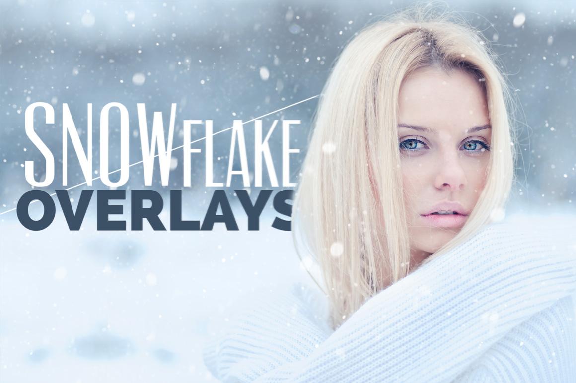 Snowflake Photo Overlays example image 1
