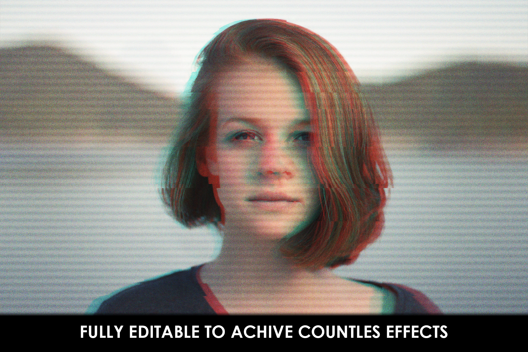 Glitch Effect Photoshop Actions example image 4