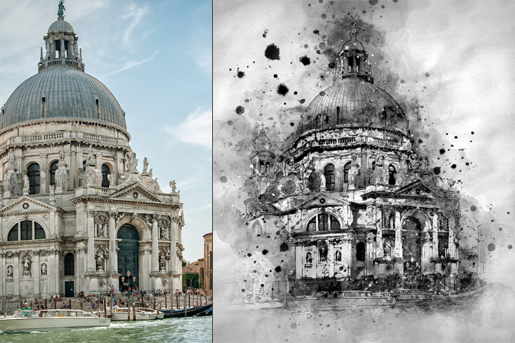 Water-Ink Photoshop Action example image 9