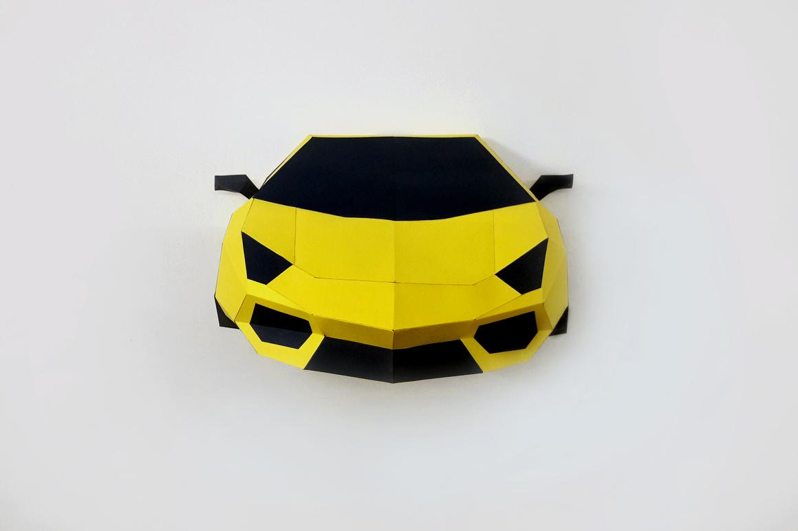 DIY Car Front - 3d papercraft example image 2