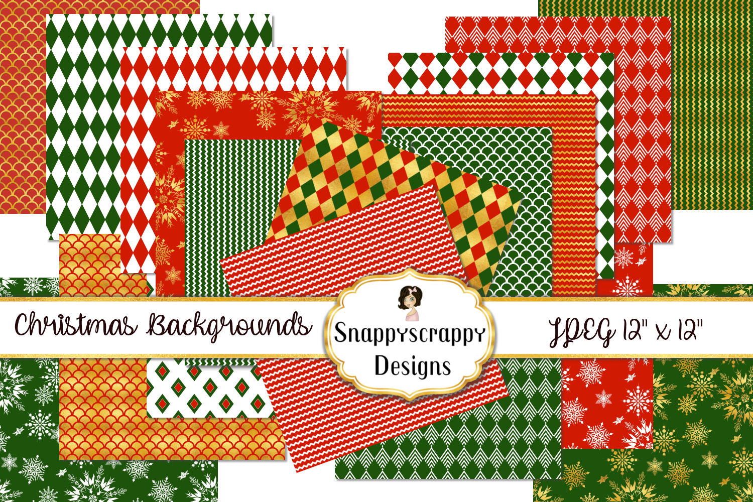 Christmas Background Papers example image 1