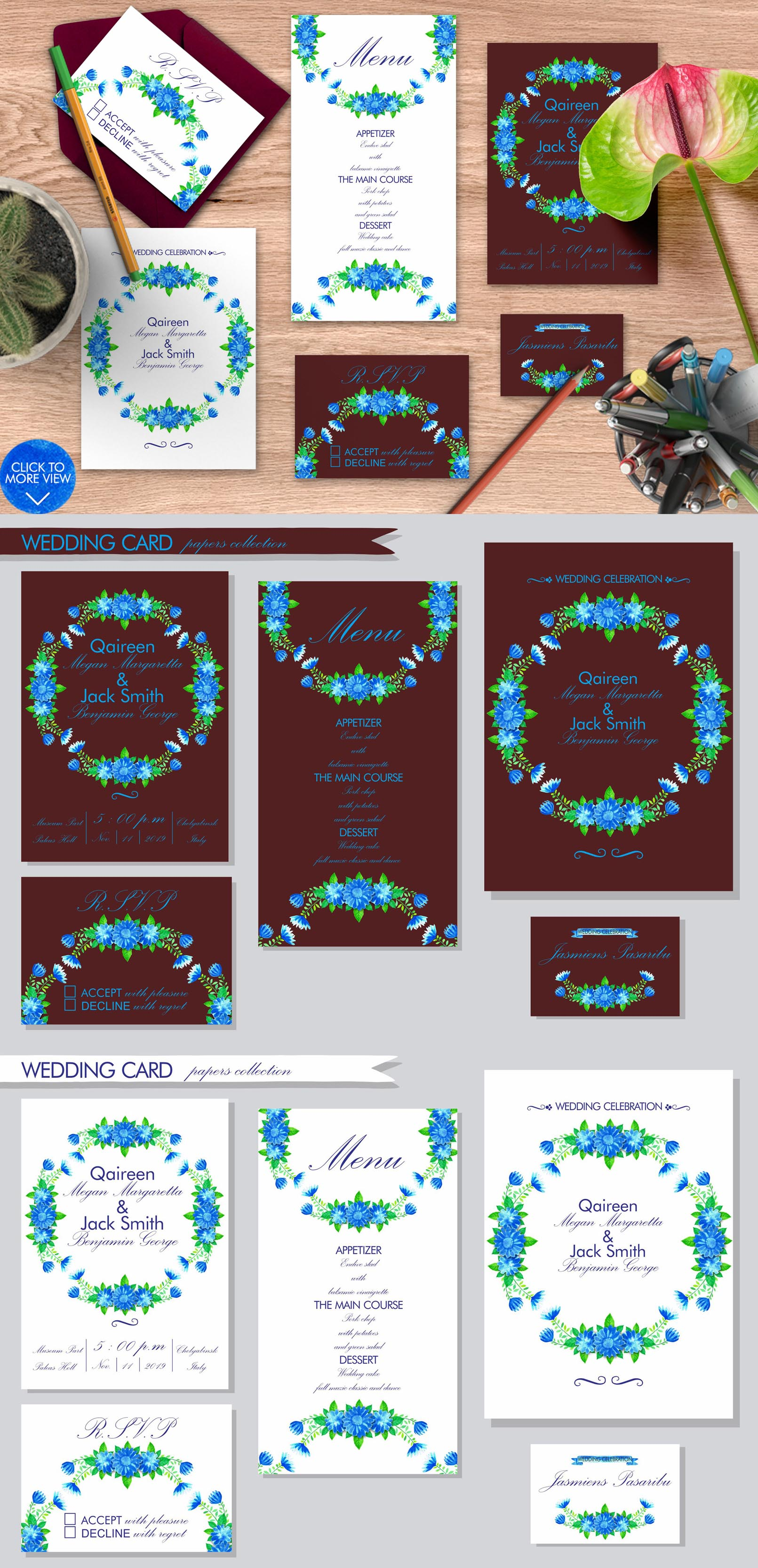 Simple Blue Floral example image 8