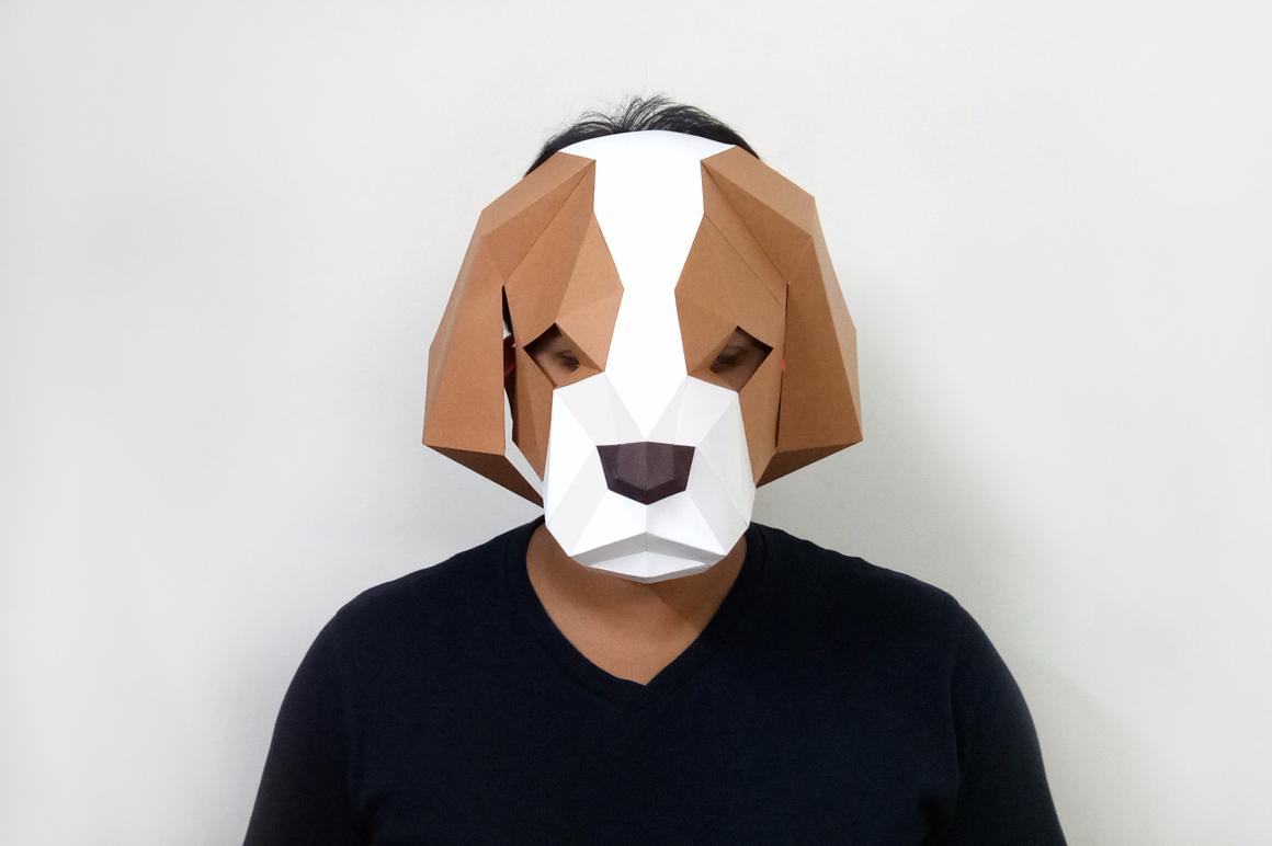 DIY Cocker Spaniel Mask - 3d papercraft example image 1