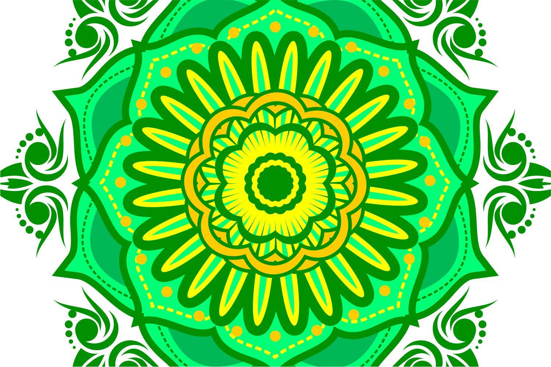 Colorful Mandala Abstract Geometric example image 6