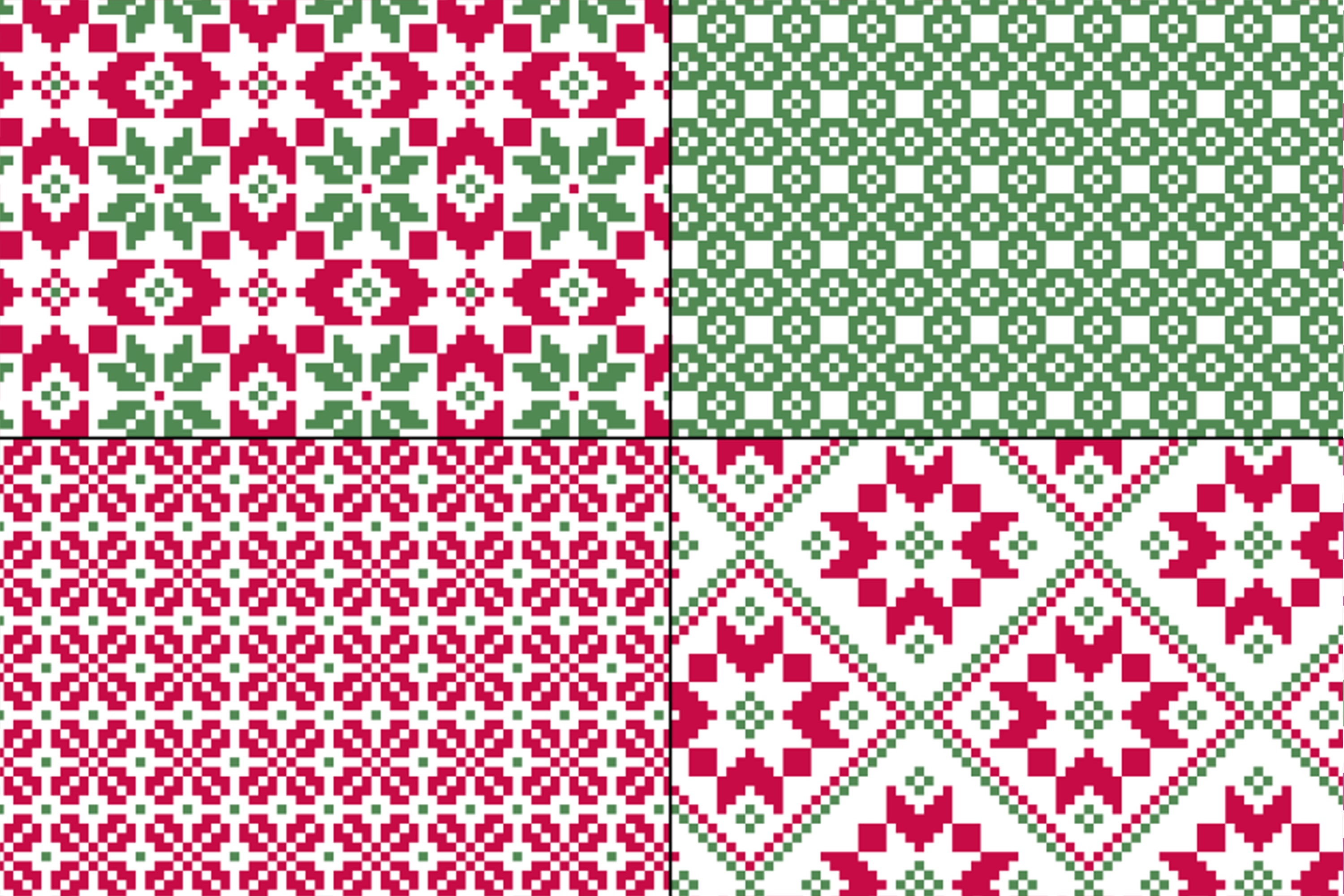 Seamless Nordic Patterns & Graphics example image 2