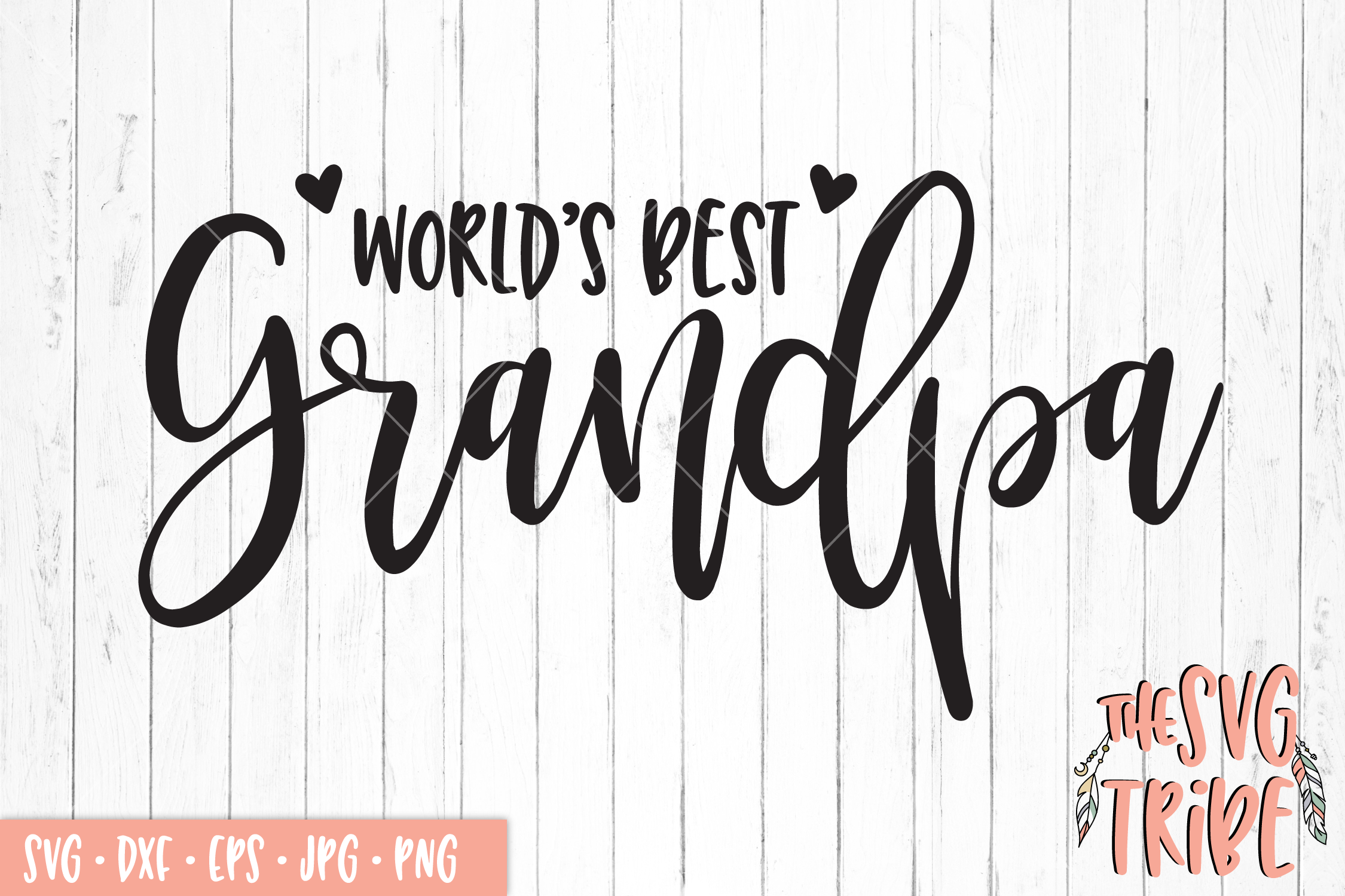 World's Best Grandpa, SVG DXF PNG EPS JPG Cutting Files example image 1