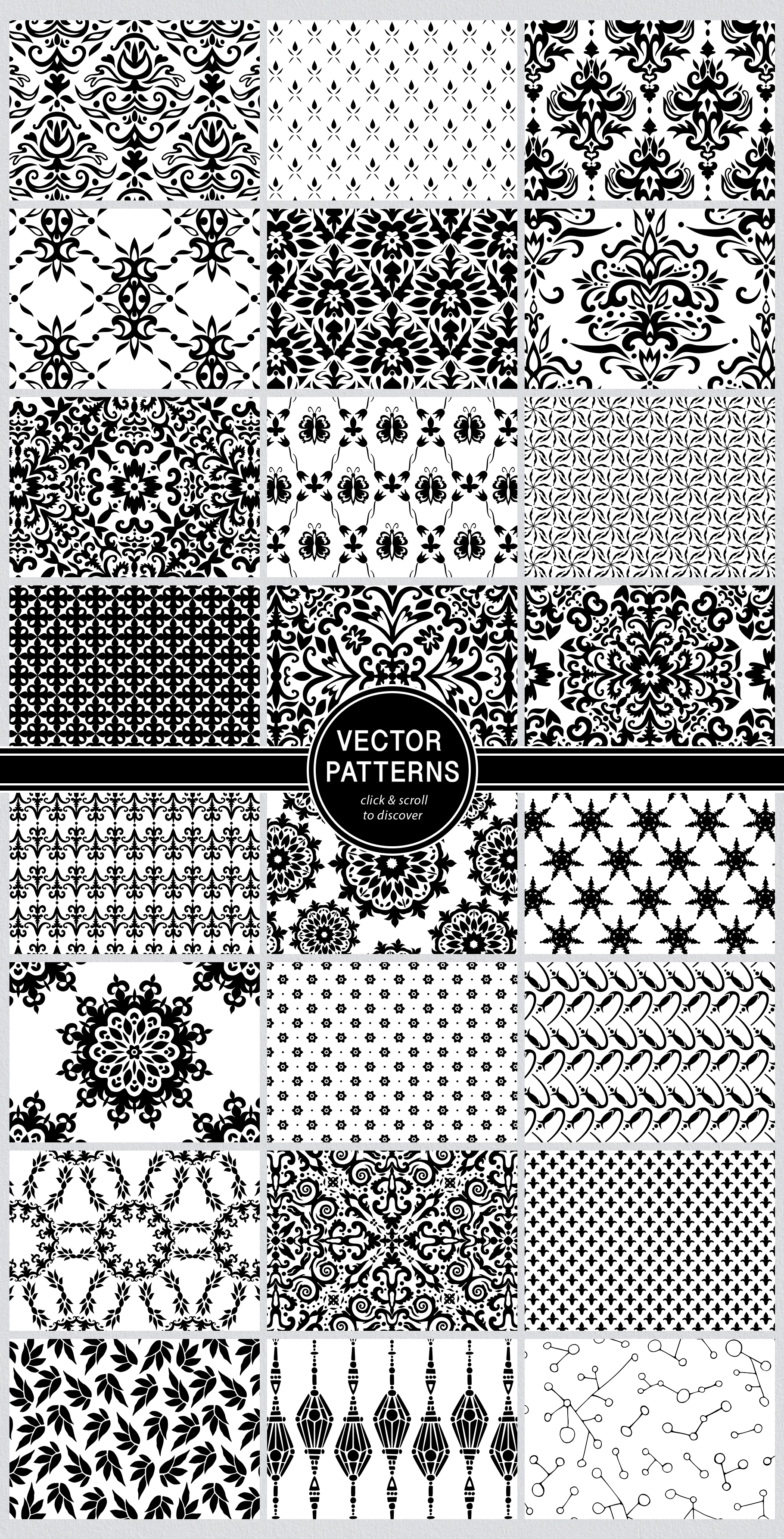Seamless Textures & Patterns Bundle - Shabby Chic Design Kit example image 22