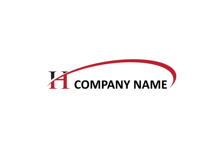 h letter swoosh logo example image 1
