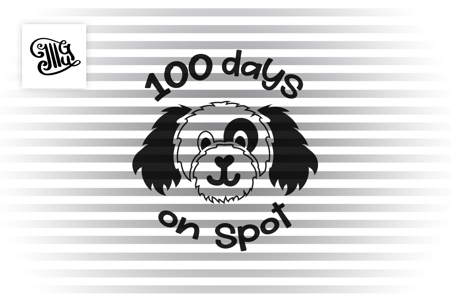 100 days of school for boy svg with dog clipart example image 2
