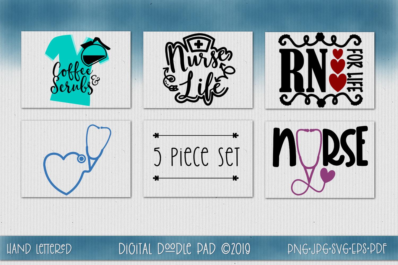 Nurse SVG Mini Bundle by Digital Doodle Pad example image 1