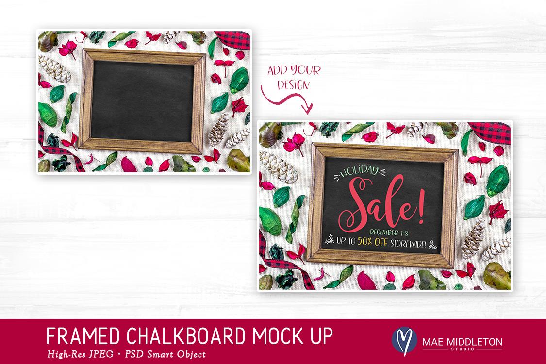 Christmas Chalkboard Mock up example image 2