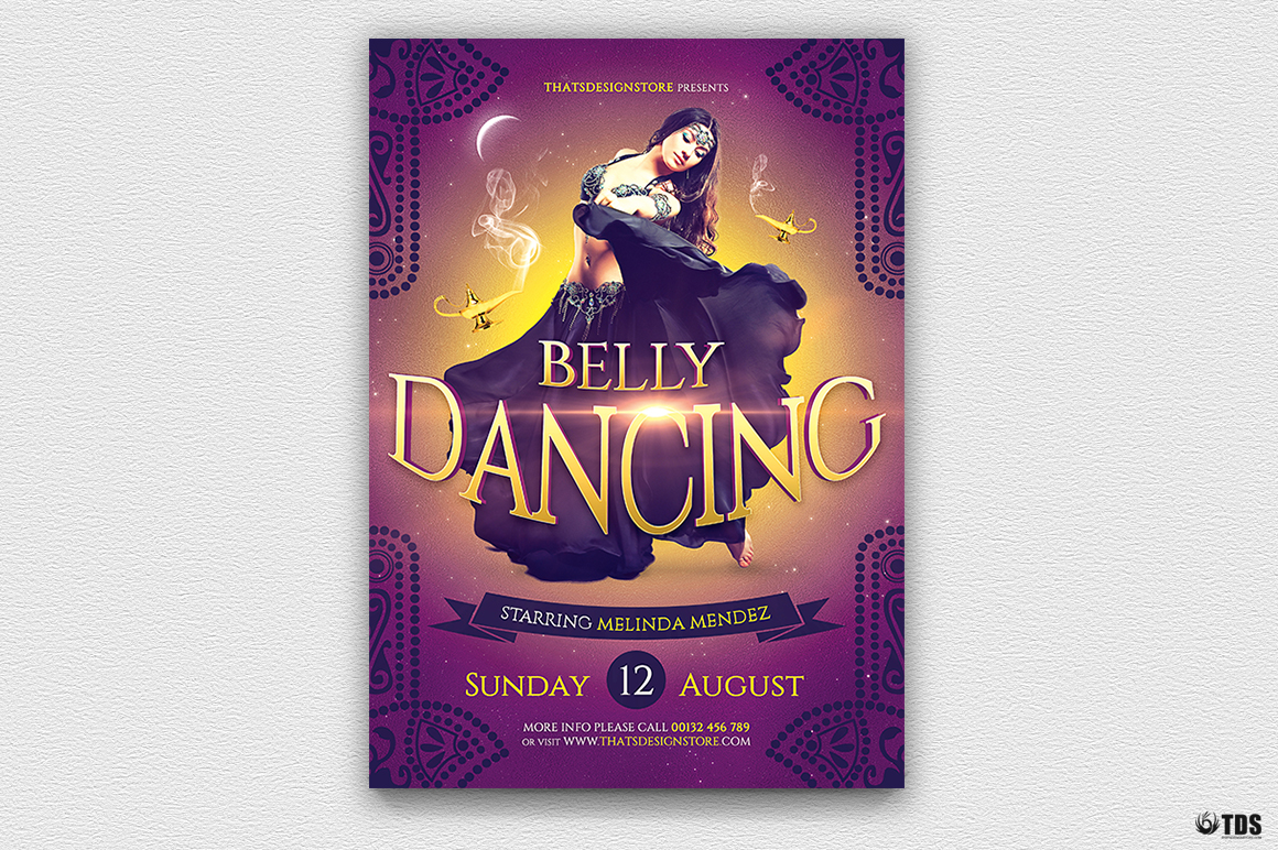 Belly Dancing Flyer Template example image 3
