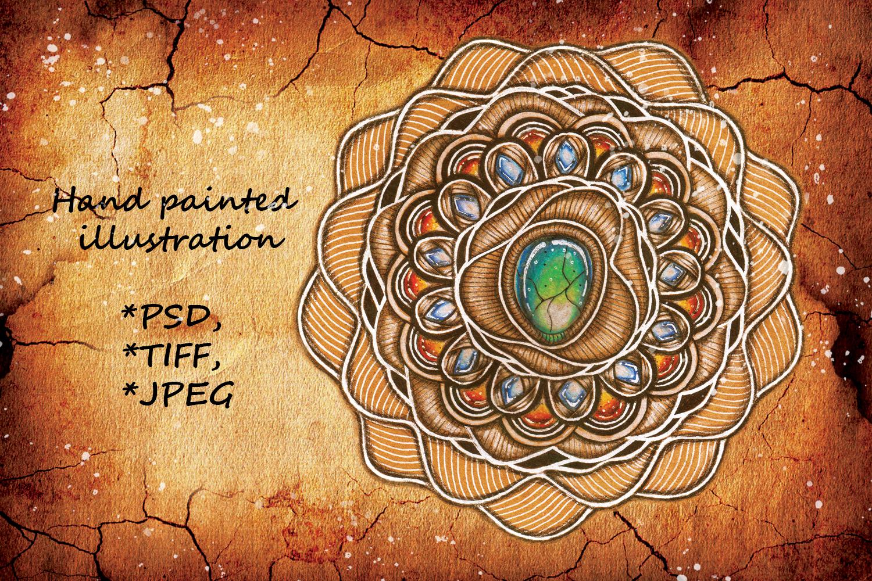 Mandala /Zendoodle/Boho Style example image 1