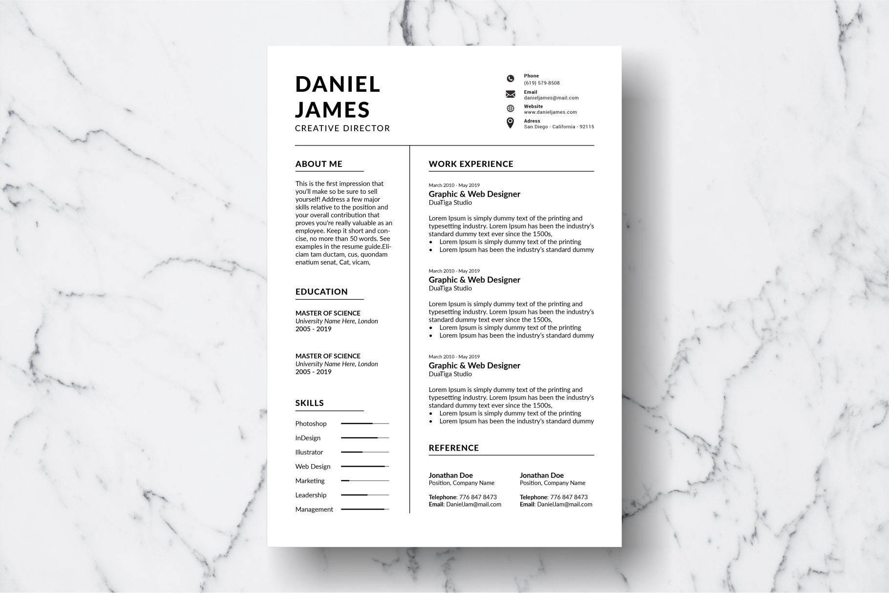 Resume Template Vol. 10 example image 2