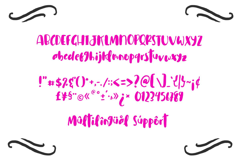 Cuties Magenta - Playful Font - example image 9