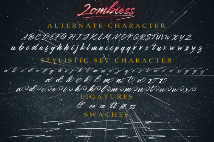 Zombies Hand Brush font example image 13