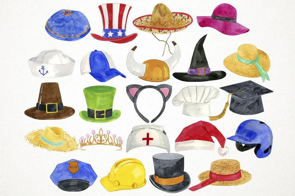 Hats Clipart, Hats Clip Art, Costumes Clipart, Caps Clipart example image 2