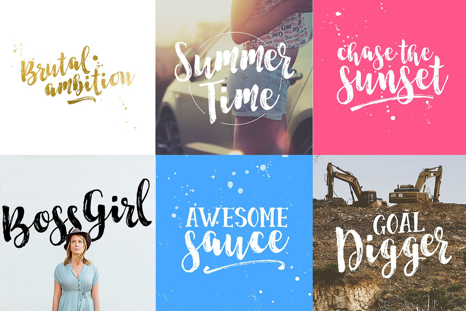 Start Today - Brush Font Duo example image 2