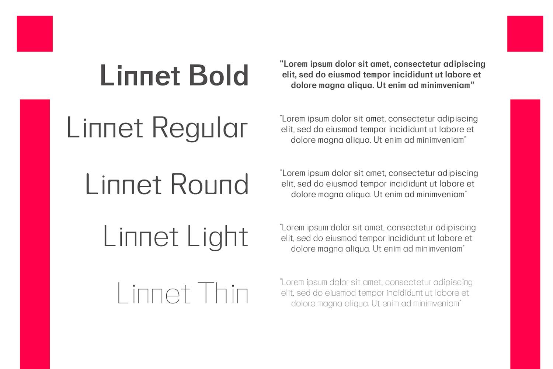Linnett Sans Serif Font Family example image 3