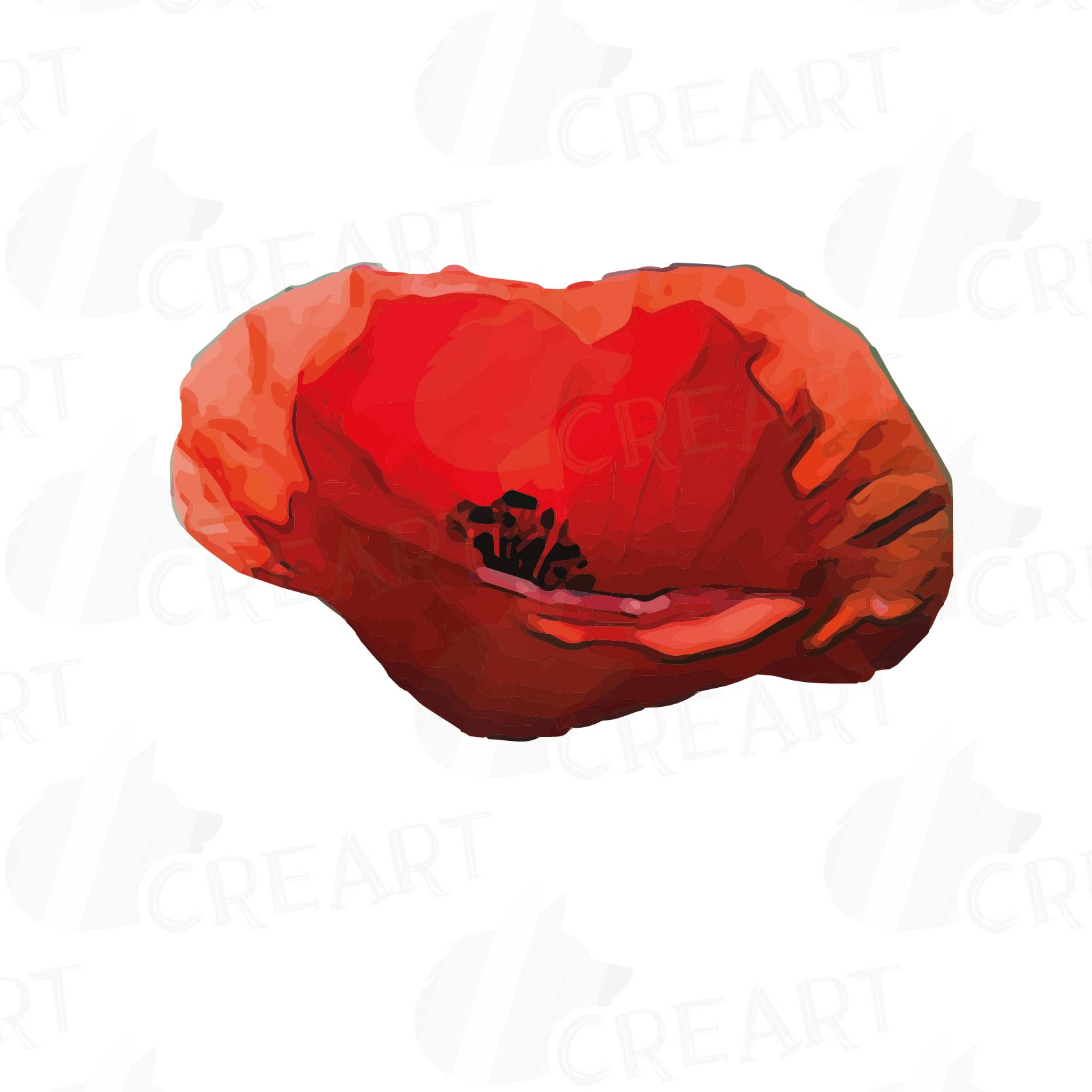 Watercolor Red Poppy Flower And Leaf Clip Art Pack Poppies Clip Art