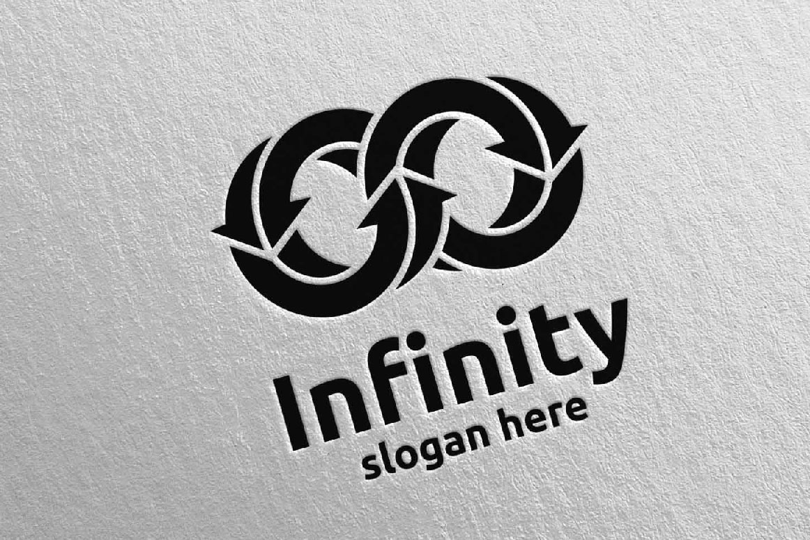 Infinity loop logo Design 15 example image 4