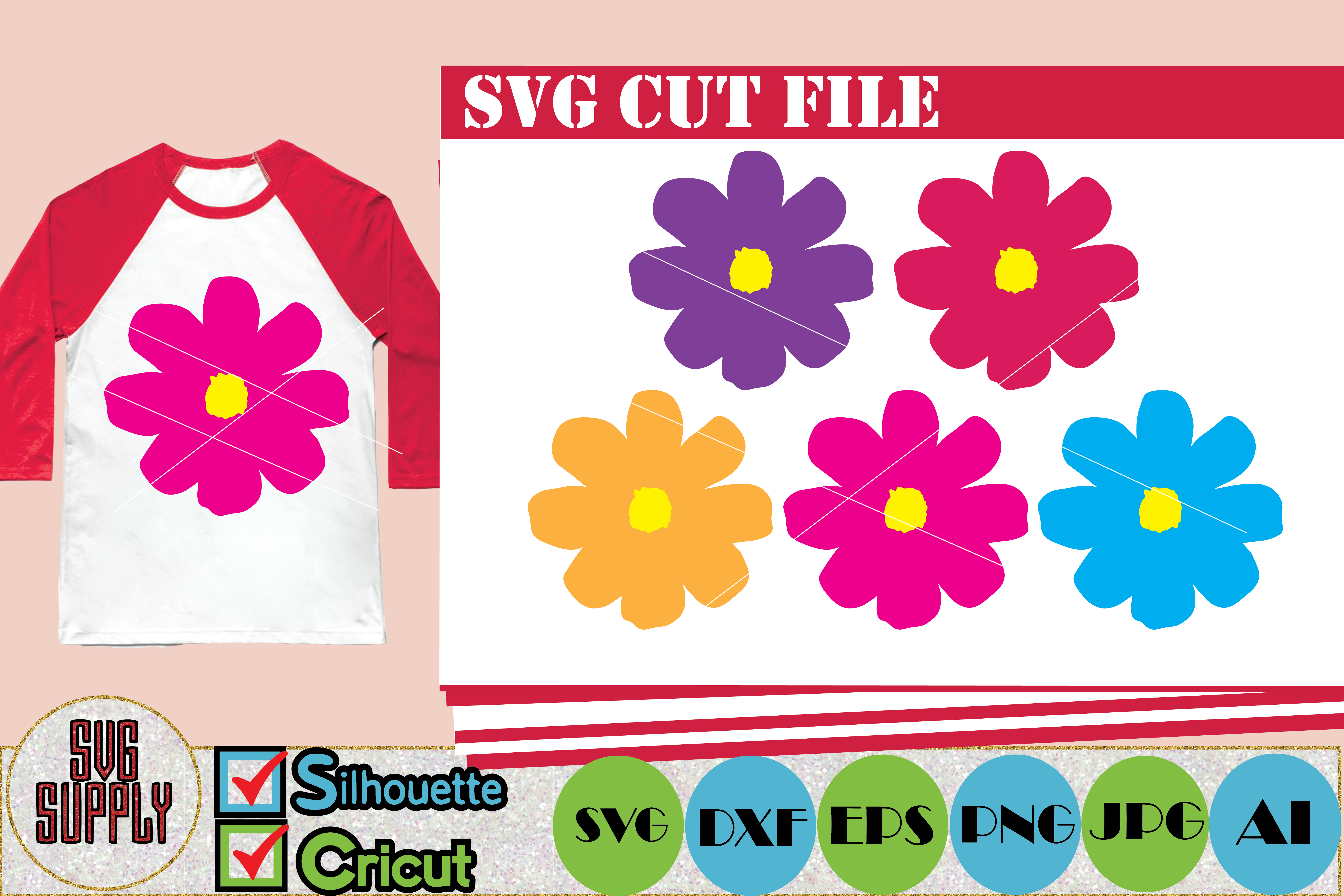 Flowers SVG Cut File example image 1