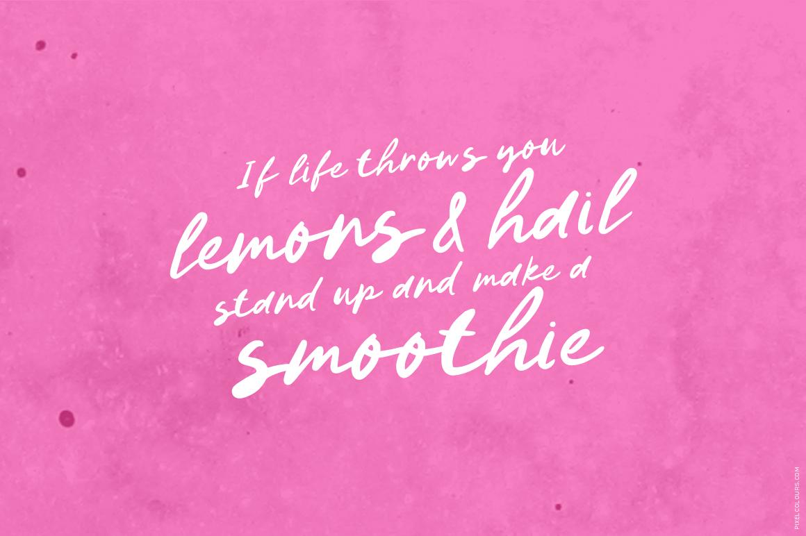 Lemon Pops Hand Drawn Script Font example image 4