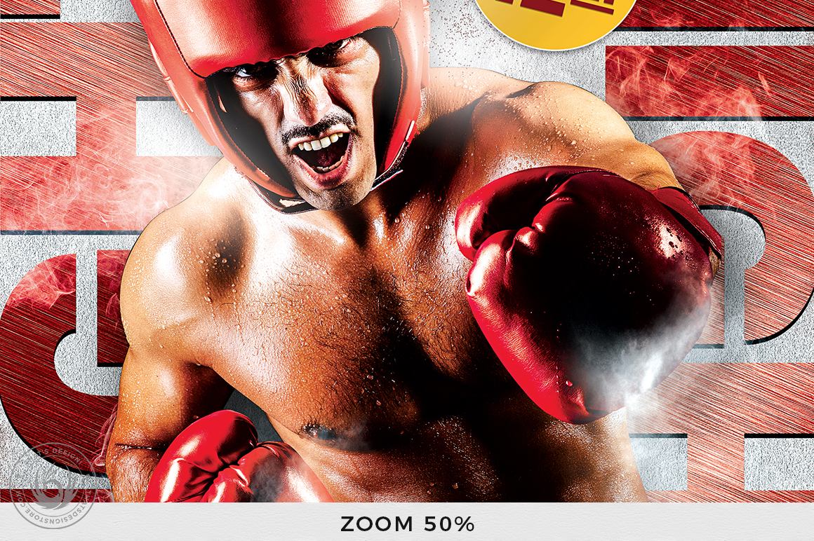 Fight Night Flyer Template V3 example image 7