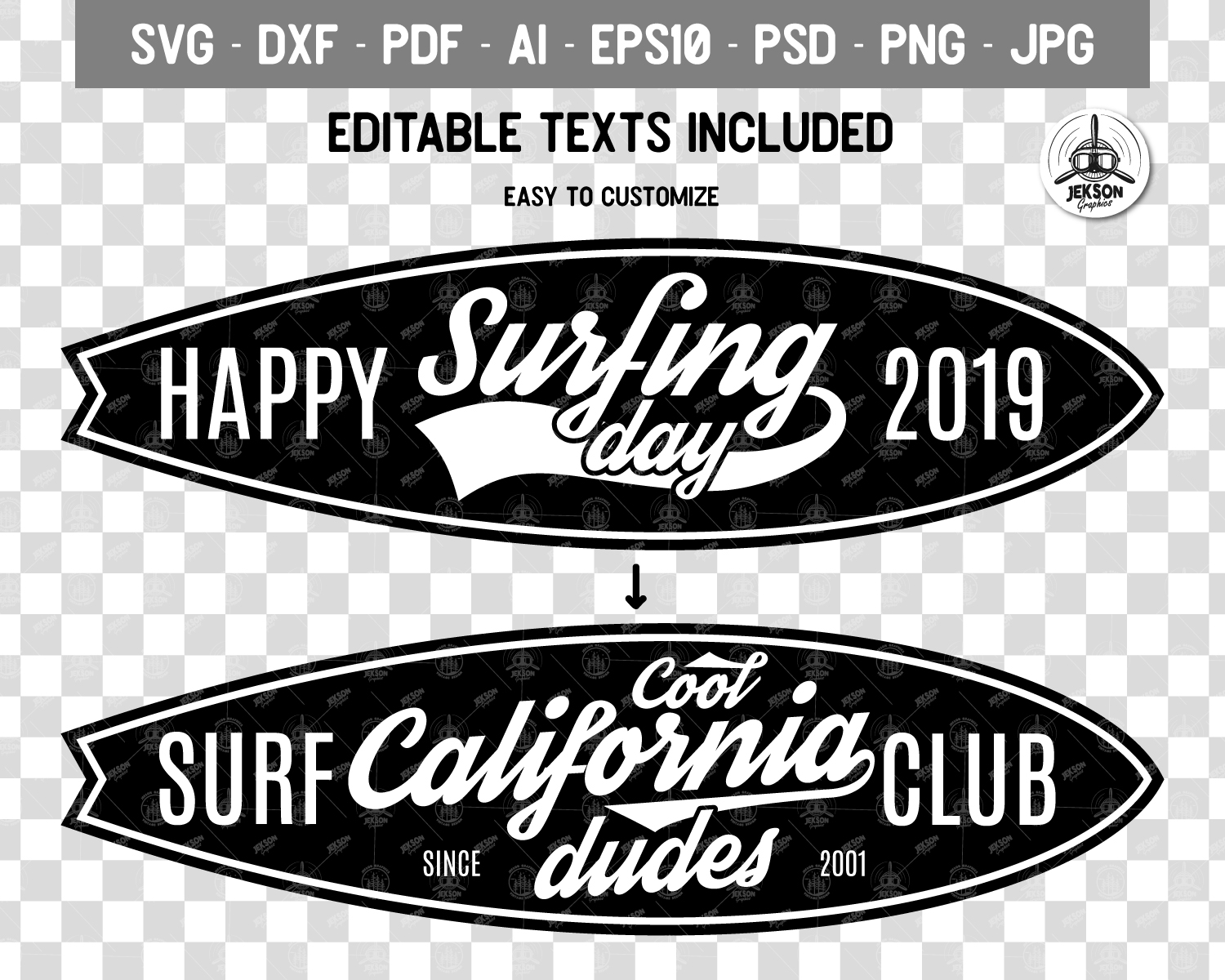 Surf Adventure Badge, Vintage Summer Logo Board SVG File example image 3