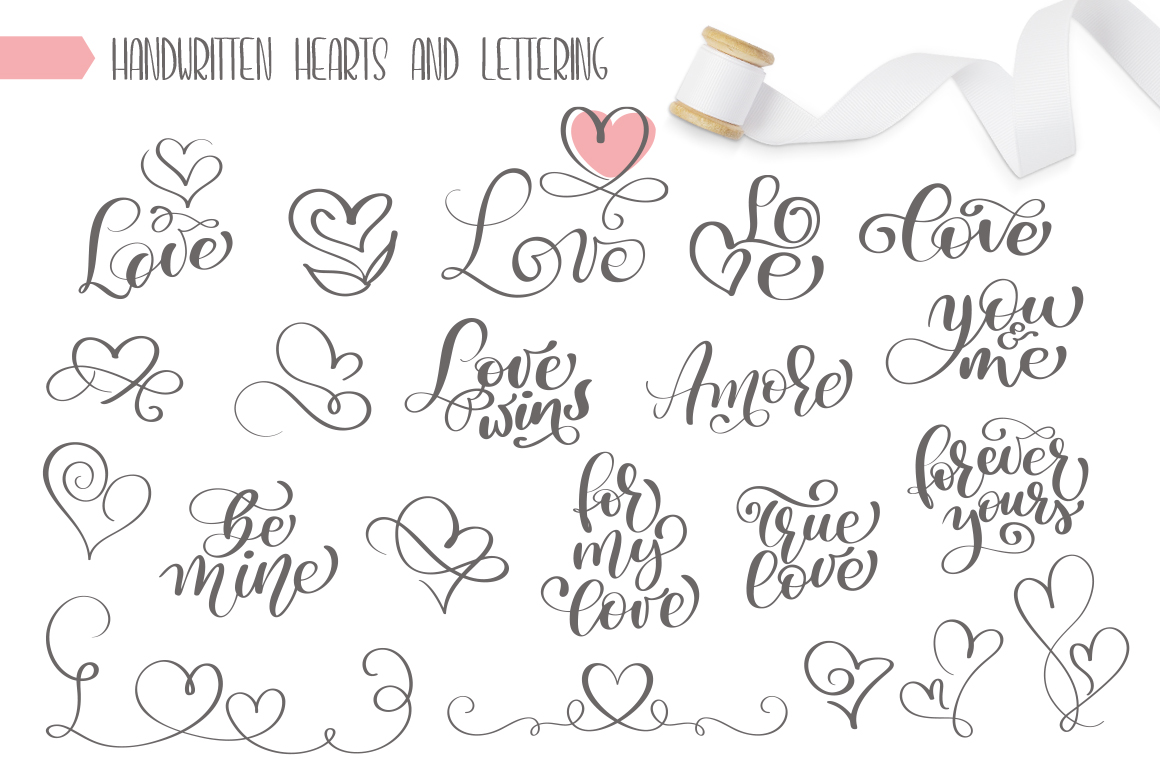 Valentines Hand Drawn Vector Collection example image 7