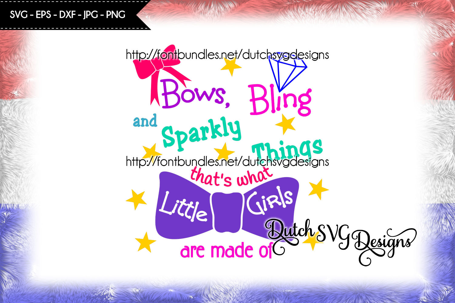 Text cutting file Girls, in Jpg Png SVG EPS DXF, for Cricut & Silhouette, plotter hobby, quote, girl svg, bow svg, bling svg, sparkly svg example image 1