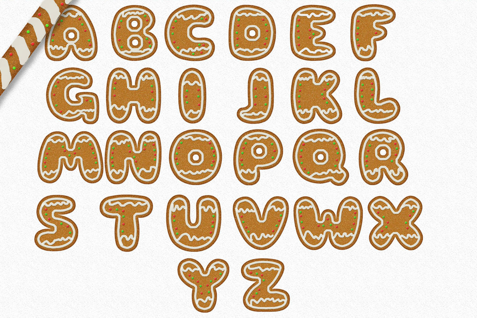 Gingerman Design Bundle - Letters, Numbers, Illustrations example image 5