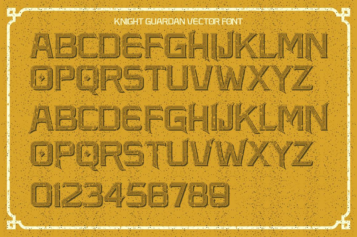 Knight Guardan font + BONUS example image 2