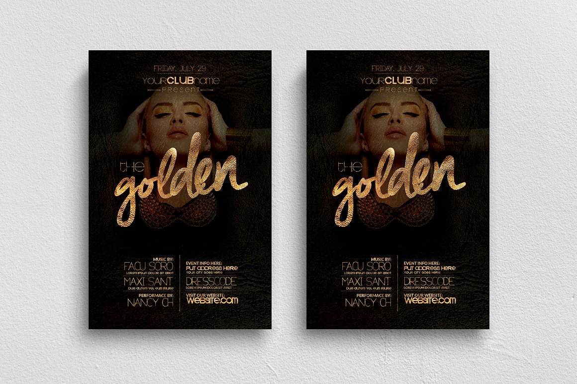 The Golden Flyer Template example image 1