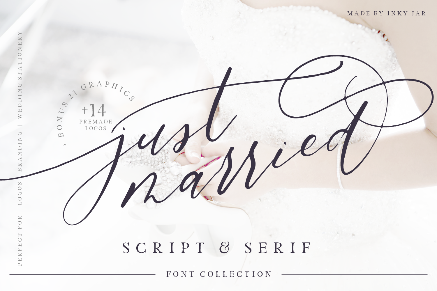 Just Married - Font Collection example image 1