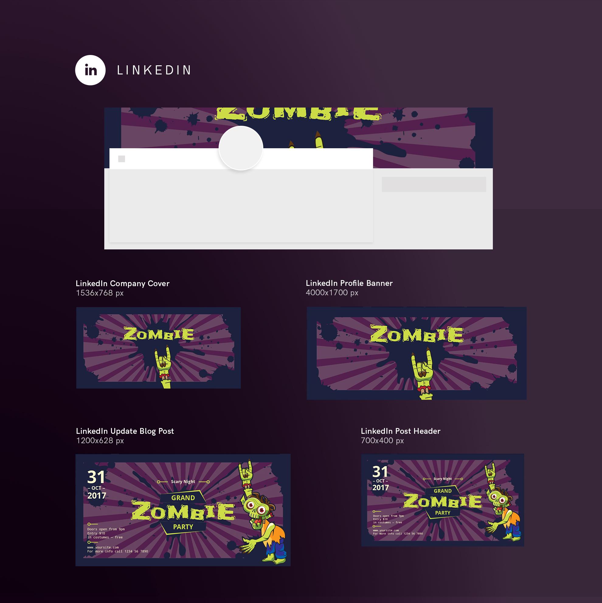 Zombie Party Design Templates Bundle example image 12