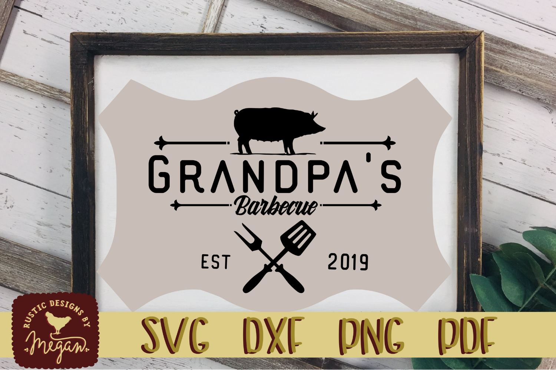 Grandpas BBQ SVG DXF EPS Cut file example image 1