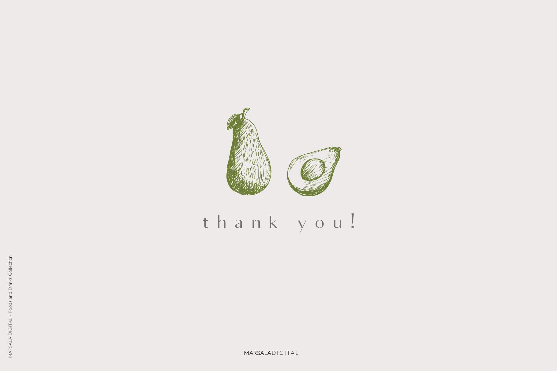 Foods & Drinks Logo Elements Handrawn Graphics example image 12