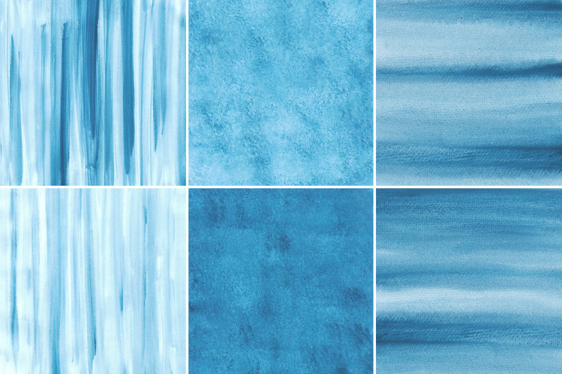 Blue Watercolor Texture Backgrounds example image 3