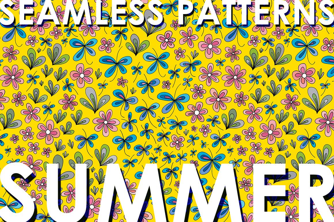 Floral summer patterns set. example image 1