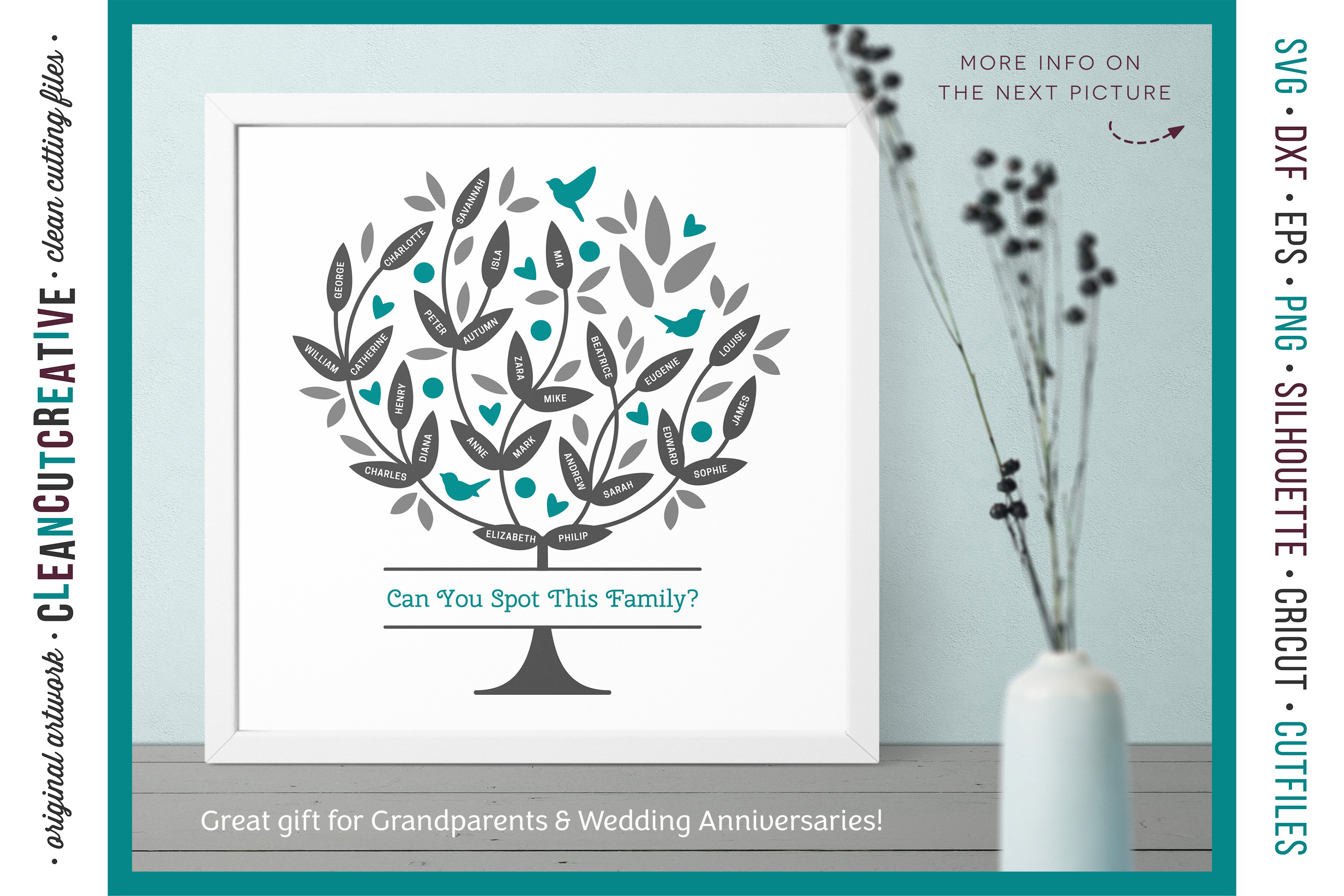 Grow a FAMILY TREE! - crafter design toolkit - SVG cutfiles example image 2
