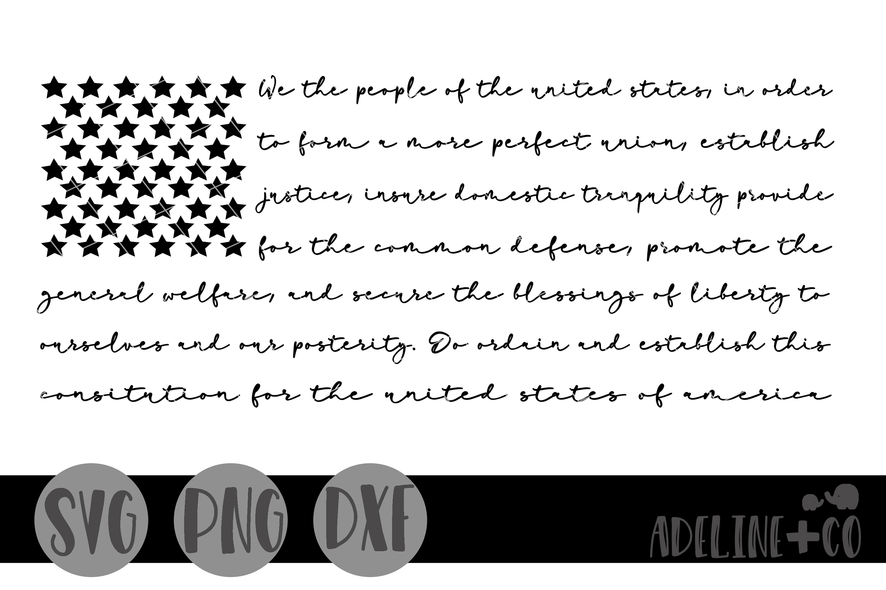 We the people Flag SVG PNG DXF example image 1